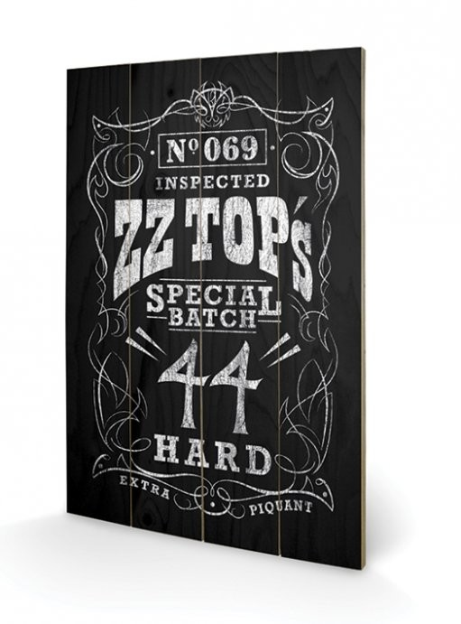 Pintura em madeira ZZ Top - Special Batch