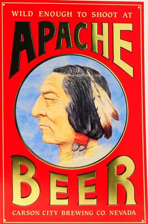 Placa de metal APACHE BEER