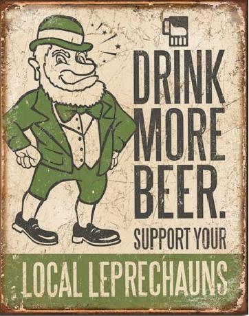 Placa metálica BEER - Drink More