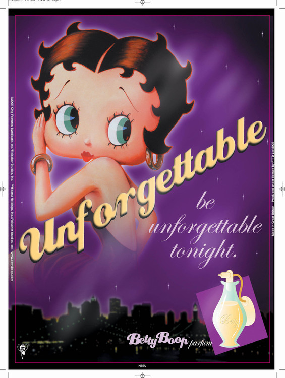 Placa de metal BETTY BOOP UNFORGETTABLE