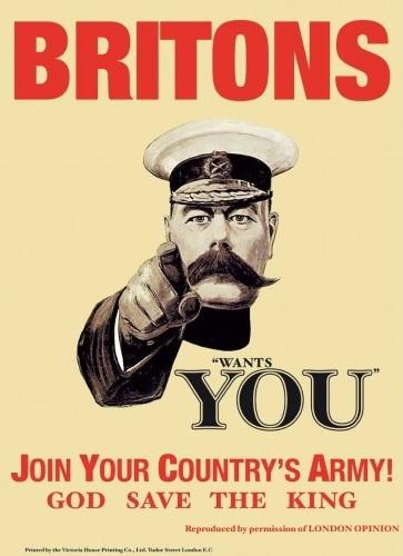Placa de metal BRITONS WANTS YOU