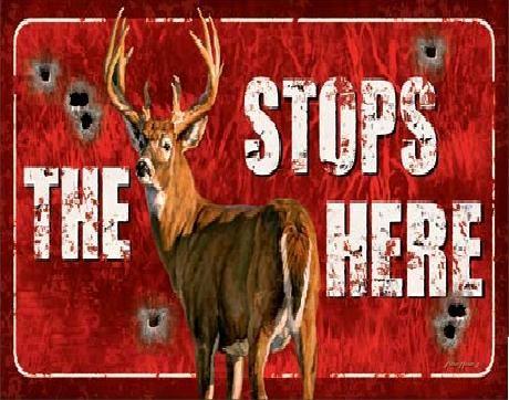 Placa metálica Buck Stops Here