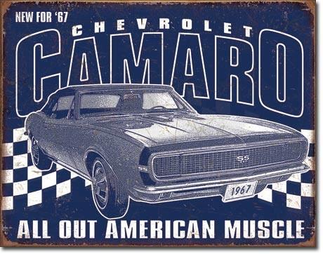 Placa de metal  Camaro - 1967 Muscle