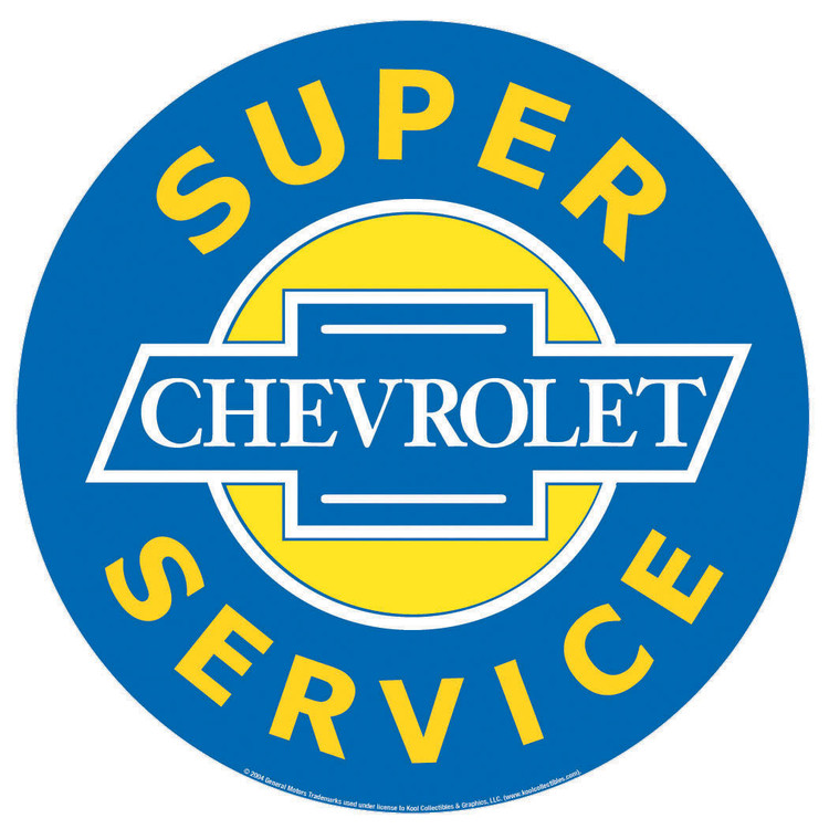 Placa de metal CHEVROLET SUPER SERVICE