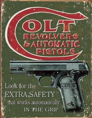 Placa de metal COLT - extra safety