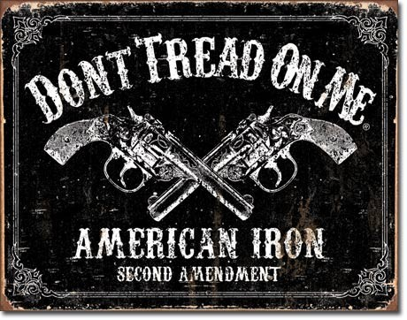 Placa de metal DTOM - american iron