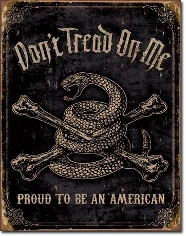 Placa metálica DTOM - Proud to be American