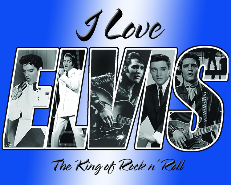Placa de metal ELVIS PRESLEY - i love elvis
