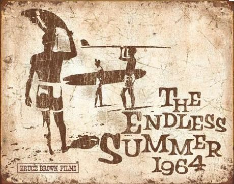 Placa de metal Endless Summer Retro