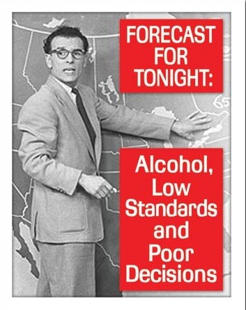 Placa de metal Ephemera - Tonight's Forecast