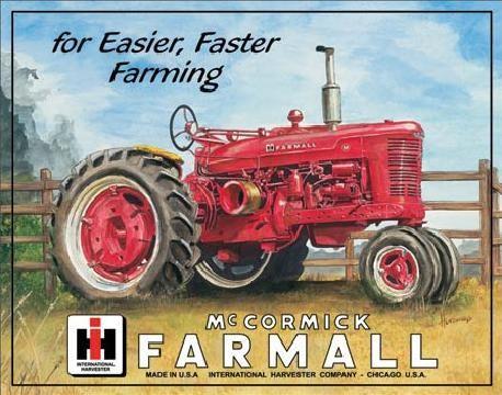 Placa metálica FARMALL - m