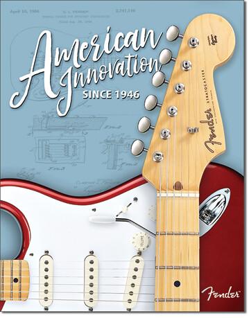 Placa metálica Fender - Innovation