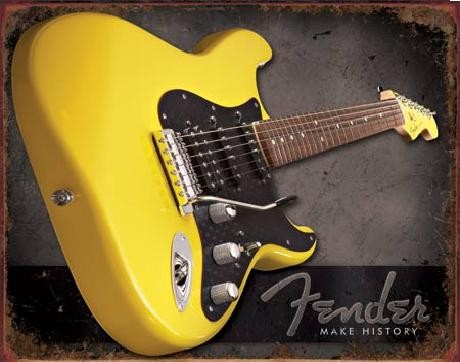 Placa de metal FENDER – Make history