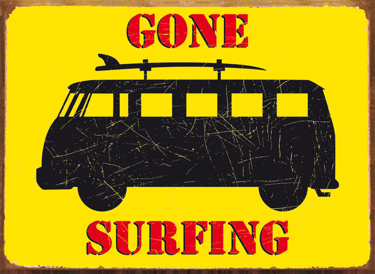 Placa de metal GONE SURFING