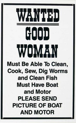Placa de metal Good woman