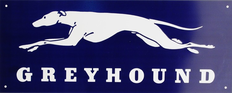 Placa de metal GREYHOUND