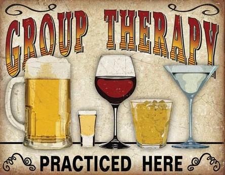 Placa de metal Group Therapy