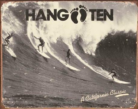 Placa metálica HANG TEN - california classic