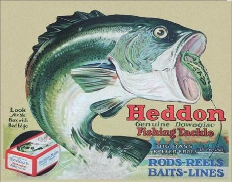 Placa de metal HEDDON - frogs