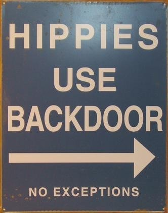 Placa de metal HIPPIES
