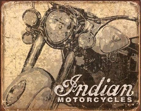 Placa de metal INDIAN - antiqued