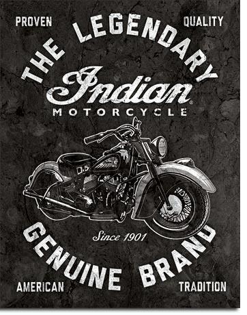 Placa de metal  Indian Motorcycles - Legendary