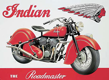 Placa de metal INDIAN ROADMASTER