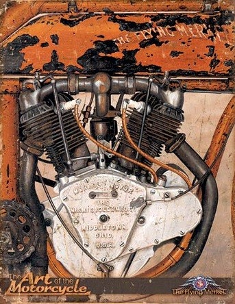 Placa de metal Jacobs - The Flying Merkel