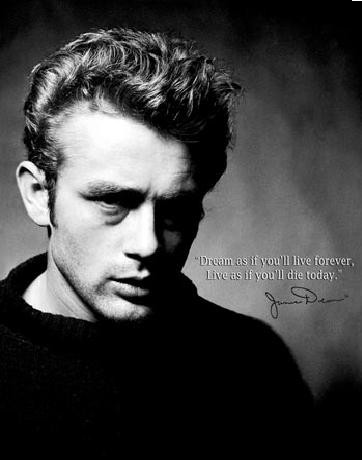 Placa de metal JAMES DEAN - Live Forever