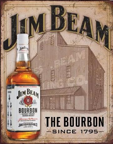 Placa de metal JIM BEAM - Still House