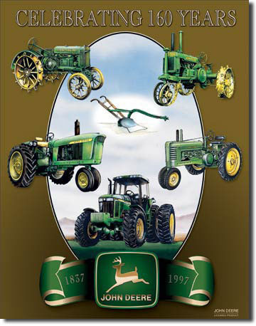 Placa de metal JOHN DEERE COLLAGE