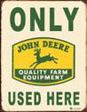 Placa de metal JOHN DEERE USED HERE