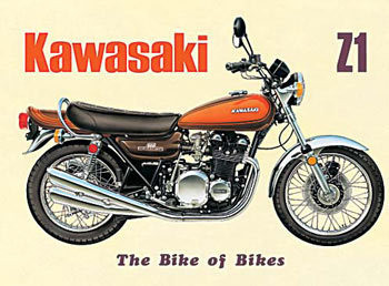 Placa de metal KAWASAKI