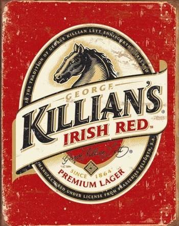 Placa de metal Killian's Beer Logo