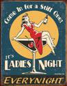Placa de metal LADIES NIGHT