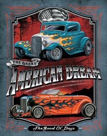 Placa de metal LEGENDS - american dream