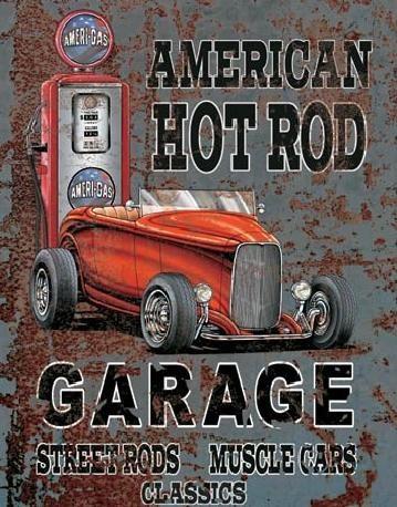 Placa metálica LEGENDS - american hot rod