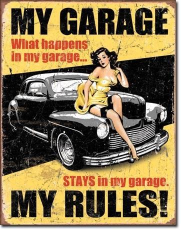 Placa de metal LEGENDS - my garage