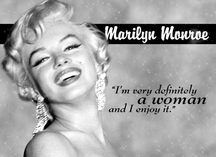 Placa de metal MARILYN MONROE WOMAN