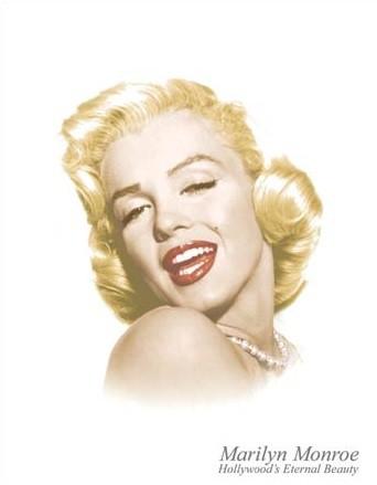 Placa de metal Marylin Monroe - Eternal Beauty