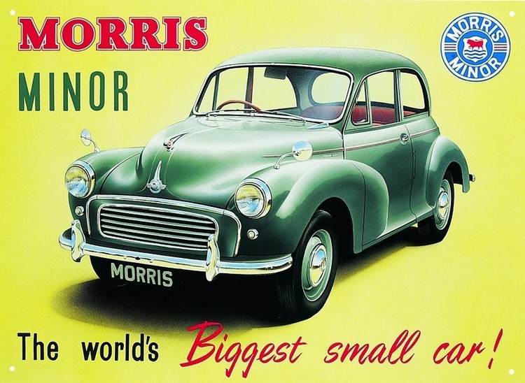 Placa de metal Morris minor 1000