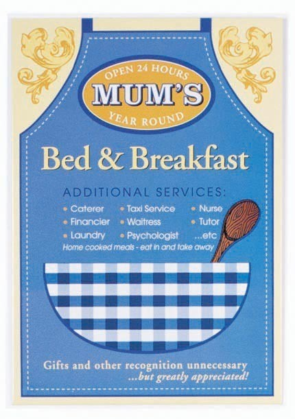 Placa de metal MUM'S - Bed and breakfast
