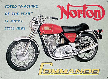 Placa de metal NORTON COMMANDO