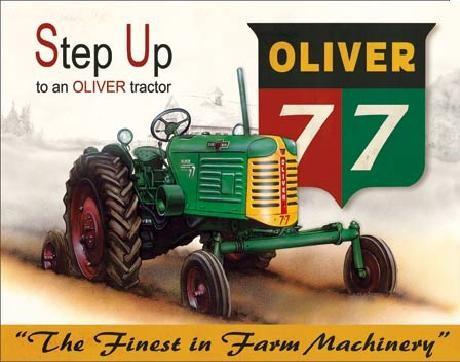 Placa metálica OLIVER - 77 traktor
