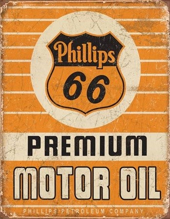Placa de metal Phillips 66 - Premium Oil