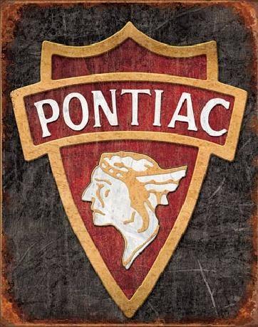 Placa metálica PONTIAC - 1930 logo
