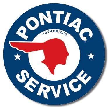 Placa metálica PONTIAC SERVICE