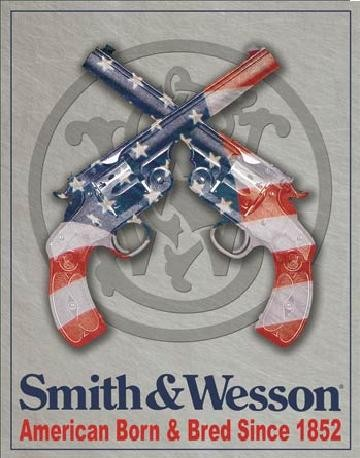 Placa metálica S&W - SMITH & WESSON - American Born