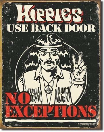 Placa de metal SCHONBERG - hippies