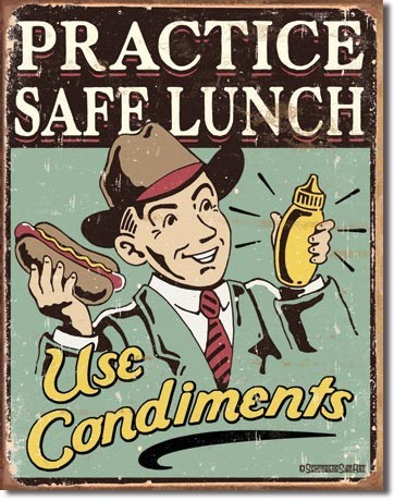 Placa de metal SCHONBERG - safe lunch